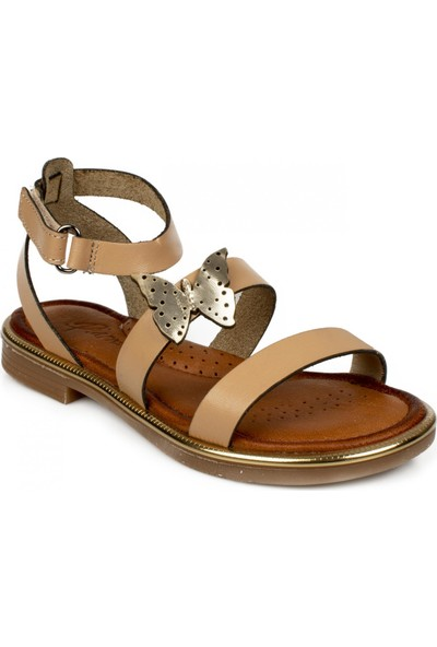 Piarmoni Msm Trend Sandals 2314 Cırtlı Krem Çocuk Sandalet