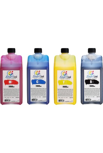 Smartink Hp Pigment Mürekkep H970P-H973P-H980P 4'lü Set 1l Renkli