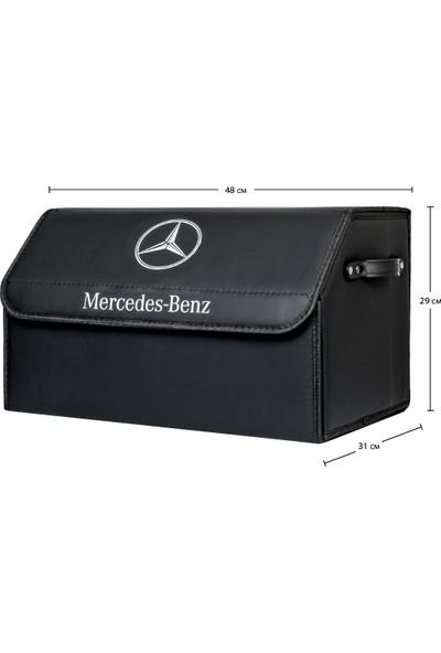 Dekohop Oto Bagaj Organizeri Mercedes Benz Uyumlu Deri Bagaj Kutu Çanta