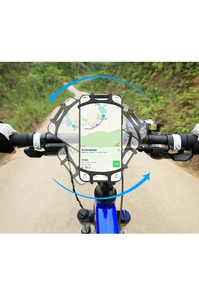 Vendas Motosiklet Telefon Tutucu 180 Derece Döner Başlıklı Universal