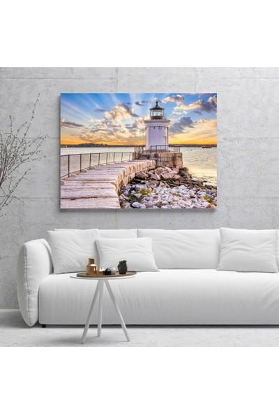 Dijiwork Deniz Feneri 3 Kanvas Tablo