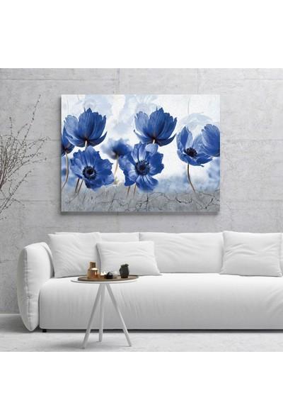 Dijiwork Mavi Çiçekler Kanvas Tablo