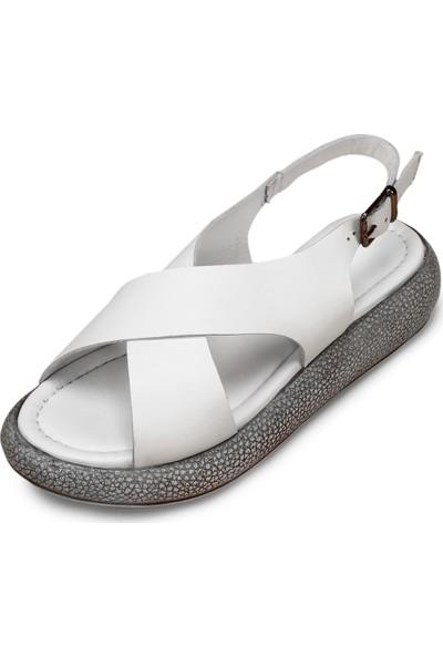 Gön Hakiki Deri Kadın Sandalet 45953