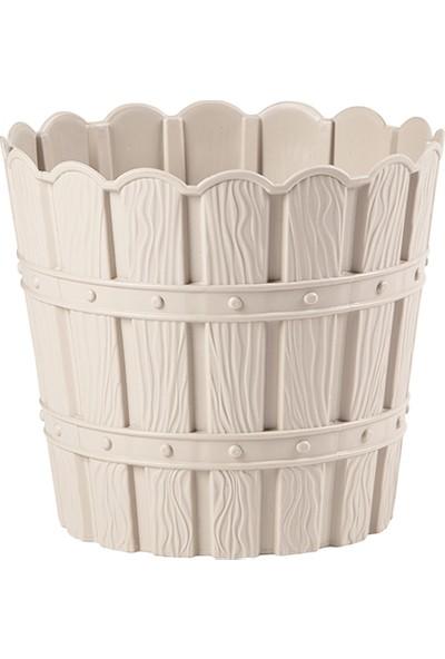 Violet Bambu Saksı Krem 10 lt 3'lü