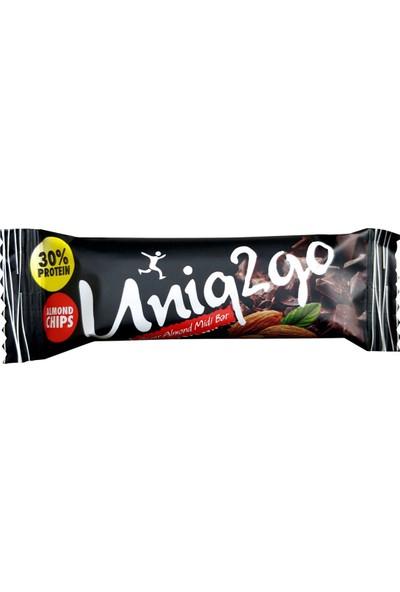 UNIQ2GO Power Mıdı 38 gr %100 Doğal Badem Parçacıklı Proteinli Bar