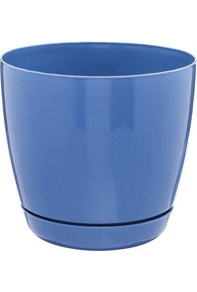 Favilla Floris Saksı Tabaklı 23 cm 6 Lt Mavi