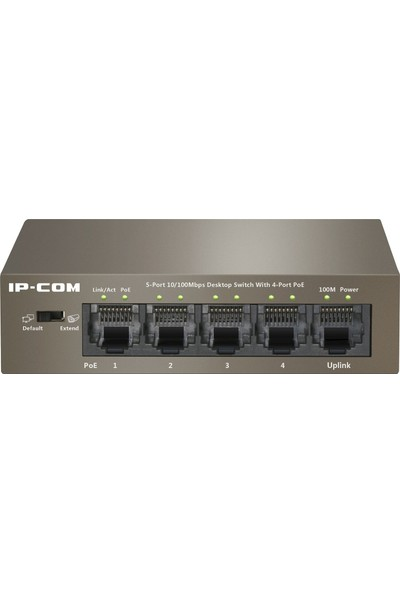 IP-Com F1105P-4-63W 5 PORT 10/100Mbps Desktop Yönetilemez 4Port PoE Switch