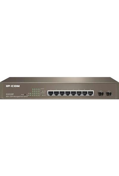 IP-Com G3210P 8 Port Gigabit +2 Port SFP Yönetileblir PoE Switch