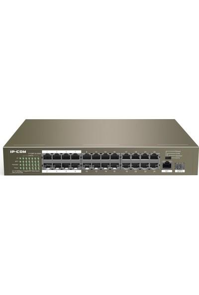 IP-Com F1126P-24-250W 24 port 10/100 + 2 port Gigabit 1SFP 10/100/1000 Yönetilemez 24 Port Poe Switch