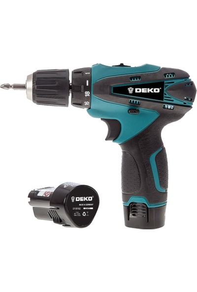 Deko 20 Volt 3.0 Amper 24 Parça Uç Çift Akülü Şarjlı Vidalama Matkap Mavi