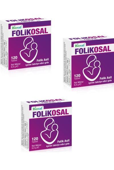 Biosal Folik Asit 400 Mcg 120 Tablet 3 Kutu