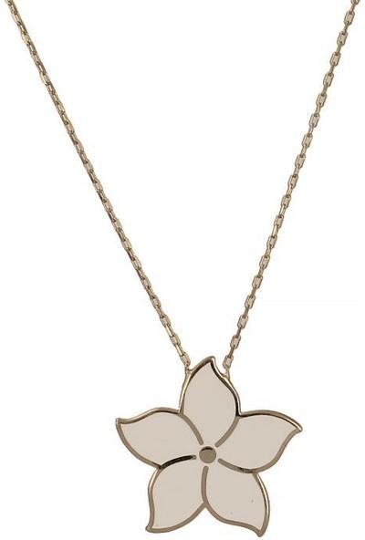 In Love Yasemin Çiçeği Gümüş Kolye 925 Ayar Gümüş