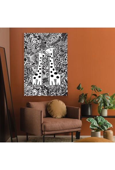 Dab Dabs Çift Zürafa 50X70