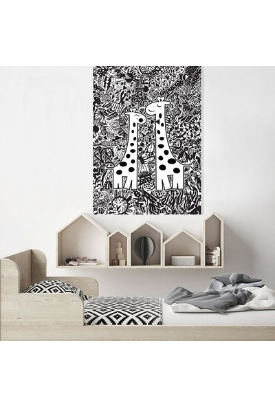 Dab Dabs Çift Zürafa 70X100