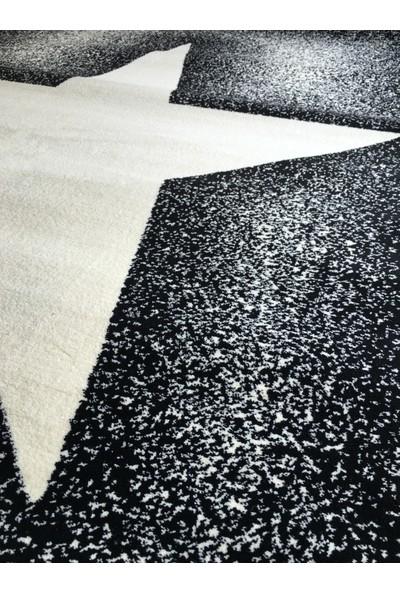 Poypoy Siyah Beyaz Yıldız 133X190 cm