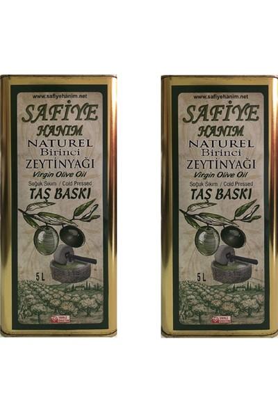 Safiye Hanım Taş Değirmen Zeytinyağı 2'li 5 + 5 lt Naturel Birinci Zeytinyağı