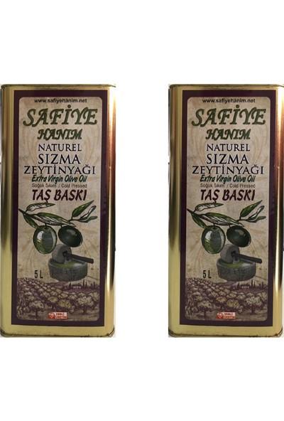 Safiye Hanım Taş Değirmen Zeytinyağı 2'li 5 + 5 lt Sızma Zeytinyağı