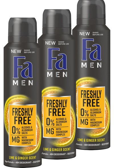 Fa Freshly Free Misket Limonu & Zencefil Deosprey x 3 Adet