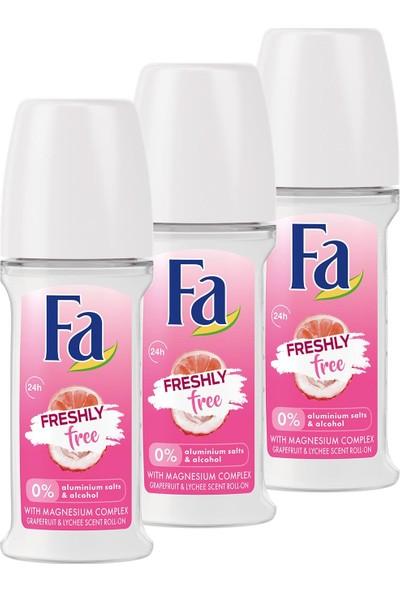 Fa Freshly Free Greyfurt & Liçi Roll-On x 3 Adet