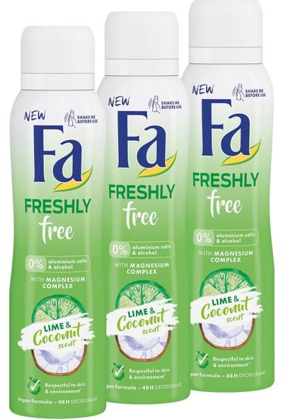 Fa Freshly Free Misket Limonu & Hindistan Cevizi Deosprey x 3 Adet