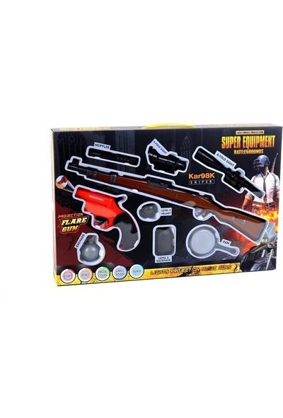 Can-Em Oyuncak Seli Işıklı Battlegrounds KAR98 Tüfek Seti
