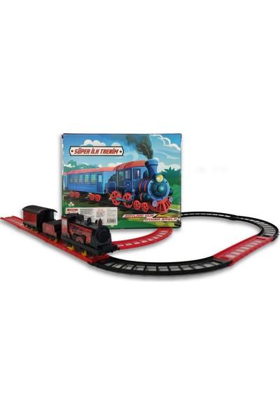 UJ Toys Pilli Raylı Vagonlu Oyuncak Tren Seti Siyah