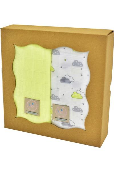 Mina'nın Düşleri Bebek Müslin Seti Sarı Bulut Sarı 4'lü