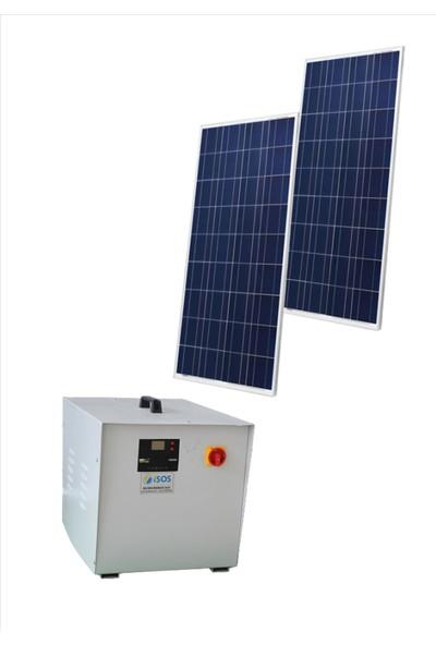 İsos 340 Watt Güneş Panelli 1200 Watt Taşınabilir Güneş Enerjili Mini Buzdolabı Tv Ve Aydınlatma Paketi