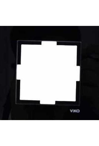 Viko Artline Artline Novella Cam Düz Siyah Tekli Çerçeve