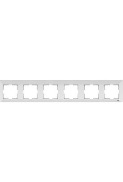 Viko Artline Artline Novella Metalik Beyaz Altılı Çerçeve