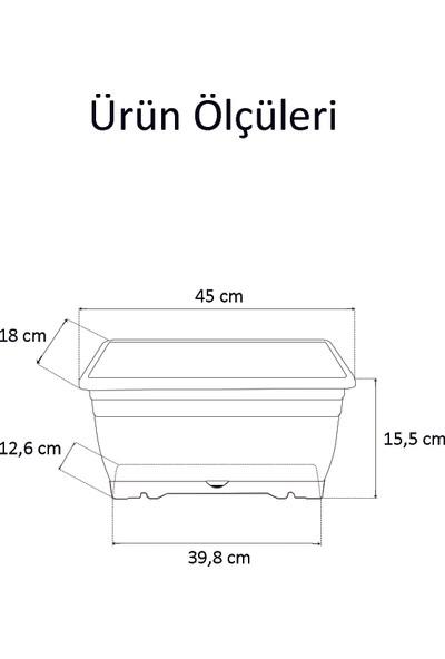 Elif Balkon Saksısı 6'Lı-45 Cm