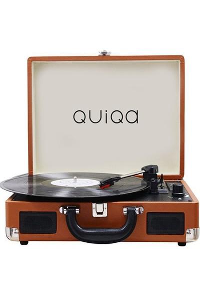 Quiqa T316BR Retro Çanta Pikap - Bluetooth ve Dahili Şarj Özellikli