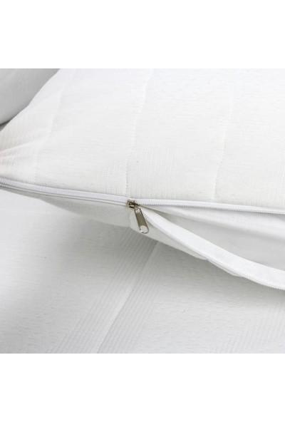 Nart Home Kapitoneli Fermuarlı Yastık Koruyucu Yastık Alezi 2 Adet 50x70 cm