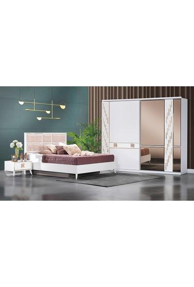 Yıldız Mobilya Ferzin Beyaz Yatak Odası