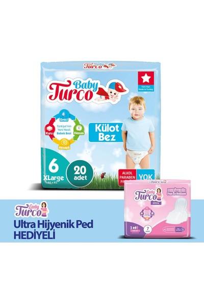 Baby Turco Külot Bez 6 Beden x Large 16+ kg 100'LÜ