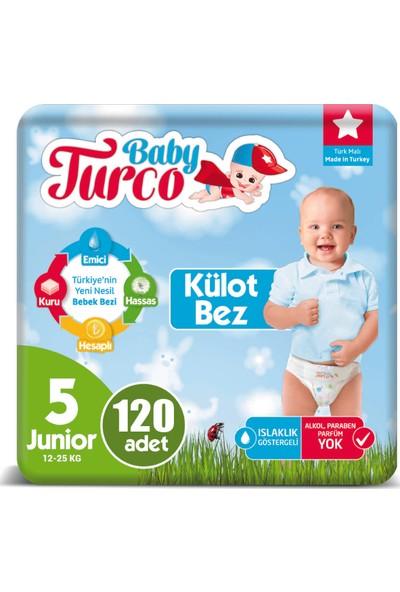 Baby Turco Külot Bez 5 Beden Junior 12-25 kg 120'LI