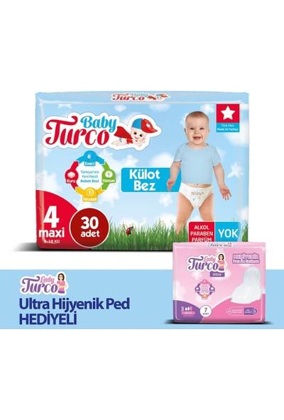 Baby Turco Külot Bez 4 Beden Maxi 8 - 14 kg 150'LI