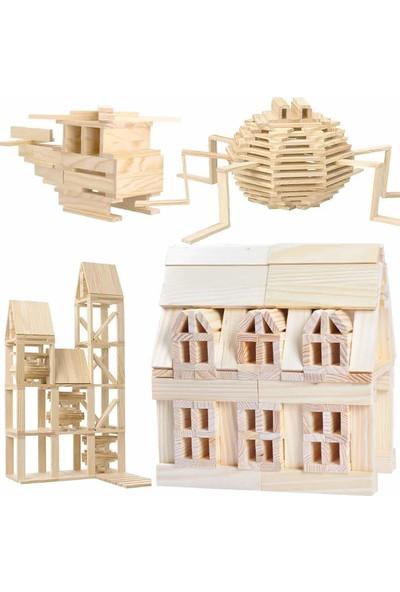 Woodoy City Wood Ahşap Eğitici Bloklar Seti 100 Parça
