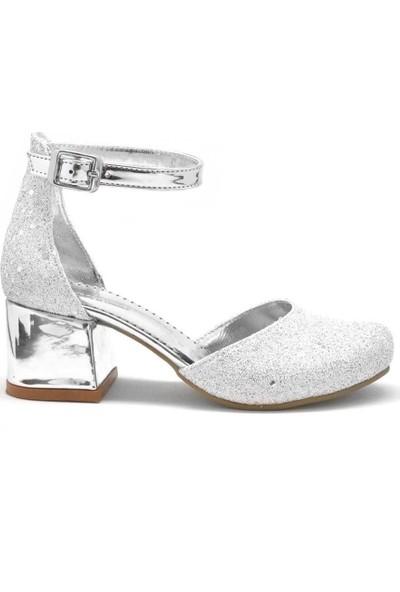 Sarıkaya Sedef Kalın Topuklu Kız Çocuk Topuklu Ayakkabı