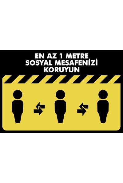 Boss Sosyal Mesafe Uyarı Yer İşaretleme Bandı