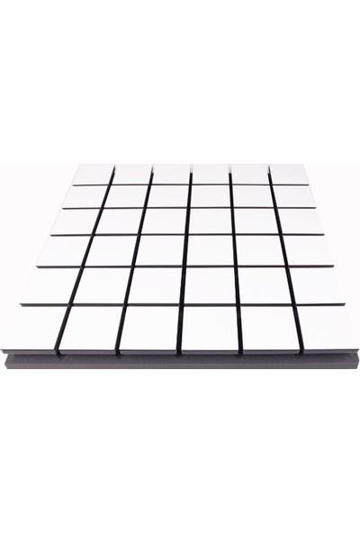 Center Acoustic Centeracoustic Ahşap Difüzör Kare Panel 60X60 cm Beyaz