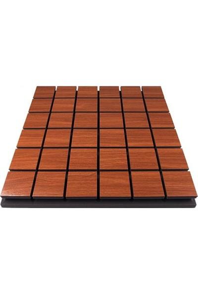 Center Acoustic Centeracoustic Ahşap Difüzör Kare Panel 60X60 cm Kahverengi