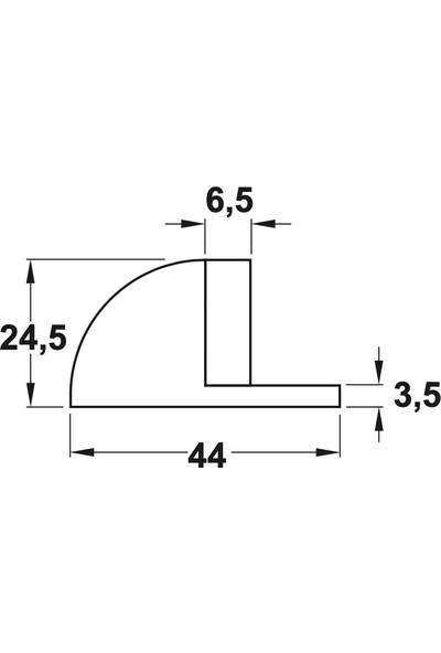 Hafele Plack Yapışkanlı Kapı Stoperi - Paslanmaz Çelik 6'Lı Avantaj