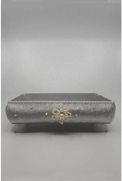 Hüma Havlu Sepeti Dikdörtgen İncili Taşlı