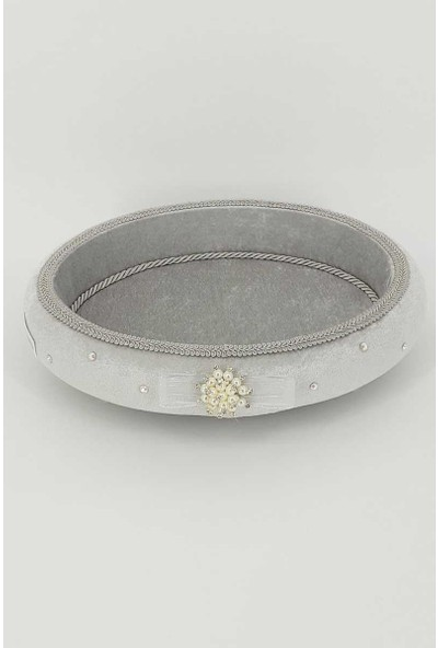 Hüma Havlu Sepeti Oval İncili Taşlı
