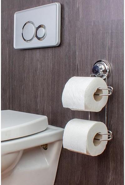 Metalife Metal Vakumlu Wc Tuvalet Kağıtlığı Yedekli