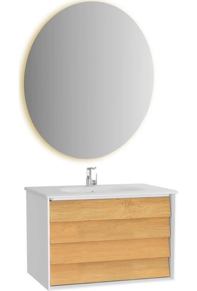 VitrA Frame Lavabo Dolabı Ve Ayna Seti, 80 cm, Mat Soft Beyaz
