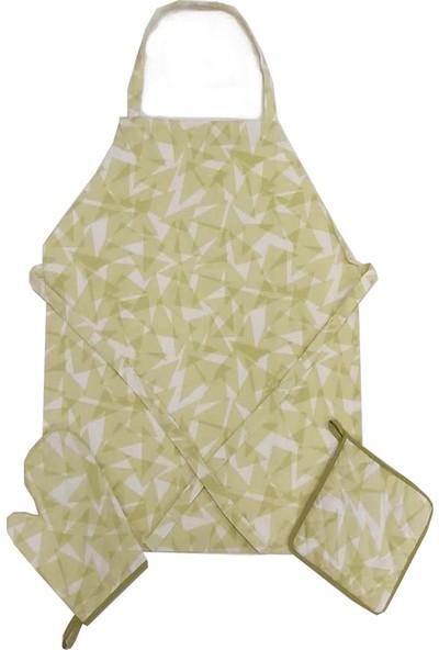 Ödel Home Duck Kumaştan Mutfak Seti 3 Parça Krıstal Desen F.yeşili