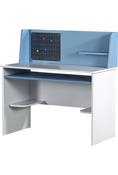 Yıldız Mobilya Like Mavi Çalışma Masası