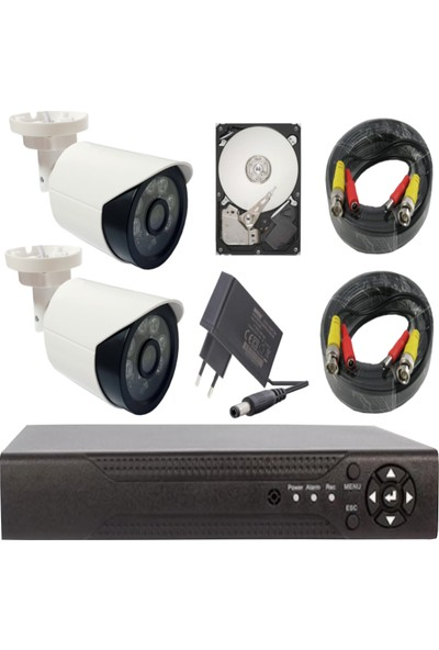 Elitcam Ahd Süper 2 Kameralı Set 1080P Full Hd